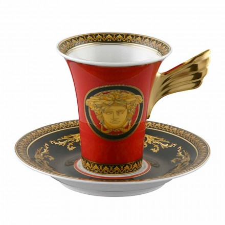 Rosenthal Versace Medusa Red Cup Coffee High porcelán design