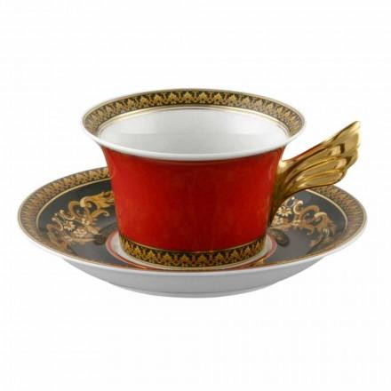 Rosenthal Versace Medusa Red Cup moderní design porcelán čaj