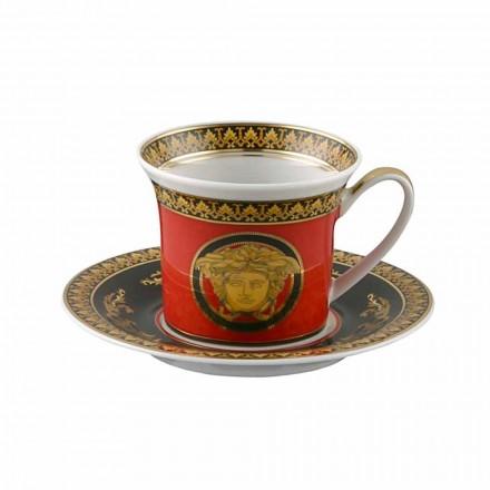 Rosenthal Versace Medusa Red Espresso cup designu porcelánu