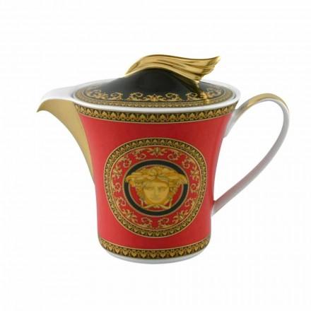 Rosenthal Versace Medusa Red 6pax porcelán konvice s víkem