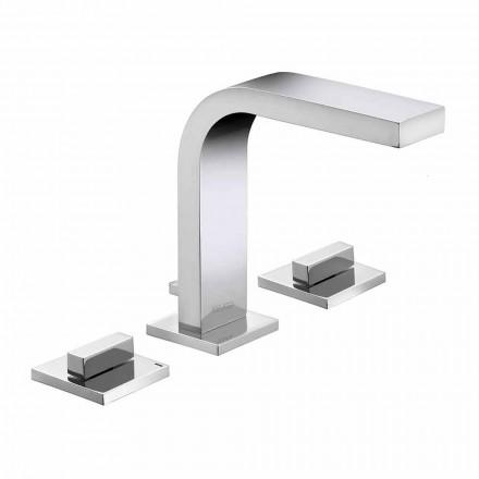 Luxusní designový mosazný 3-otvorový umyvadlový faucet - Etto