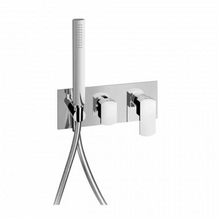 Designový sprchový směšovací ventil s třícestným přepínačem vyrobený v Itálii - Sika