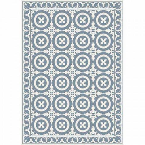 Béžová nebo modrá vzorovaná tabulka běžec v Pvc a moderním polyesteru - Bondo