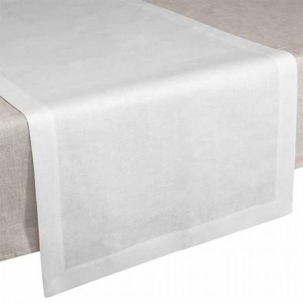 Podlahová lišta ve smetanově bílém plátně 50x150 cm vyrobená v Itálii - mák