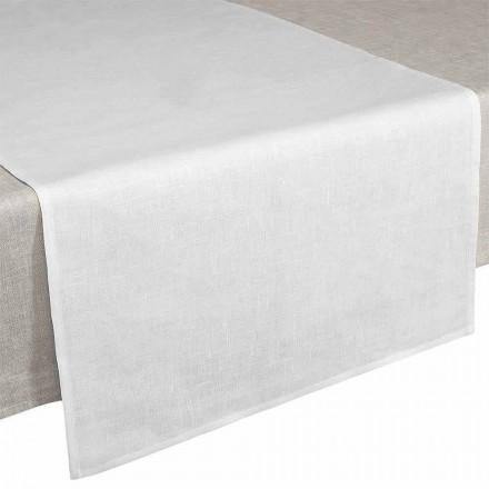 Podlahová lišta 50x150 cm v krémově bílém čistém prádle vyrobené v Itálii - Blessy