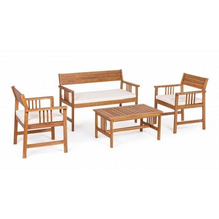 Lounge 4 Doplňky v zahradním dřevěném designu v Acacia Wood-Roxen