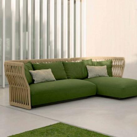 Venkovní salonek Cliff Talenti s pohovkou a konferenčními stolky, design Palomba