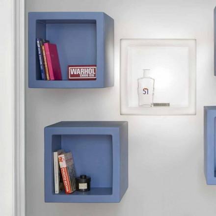 Cube color shelf Slide Open Cube moderní design vyrobený v Itálii
