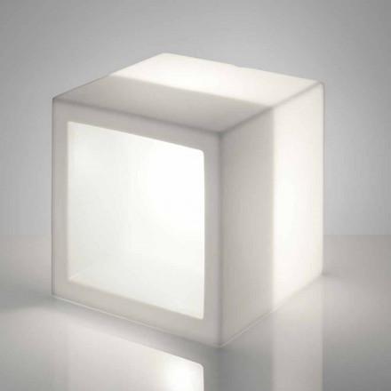 Svítivá policová krabice Slide Open Cube moderní design vyrobený v Itálii