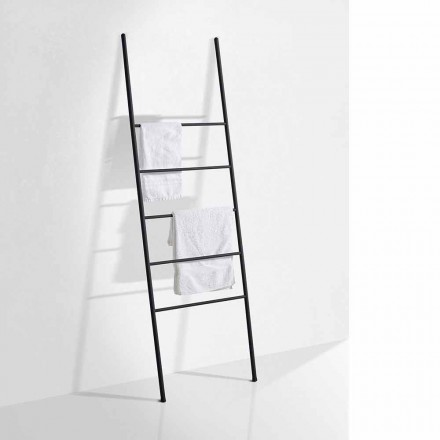 Moderní designový žebřík na ručníky v bílé nebo černé metalické barvě - Oppalà