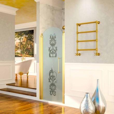 Elektrické ohřívač na ručníky Scirocco H Caterina zlato v provedení mosaz, design