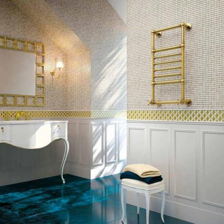 Scirocco H Amira Hydraulický ohřívač ručníků ve zlaté mosazi vyrobený v Itálii
