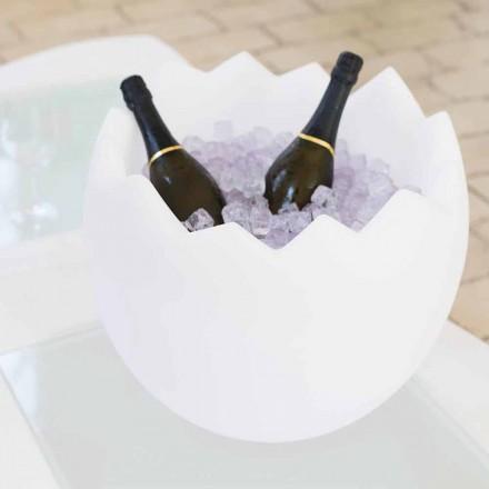 Jasně bílý ledový kbelík Slide Kalimera, vyrobený v Itálii