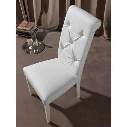 Klasická židle se všívanou prací a diamanty - Diana