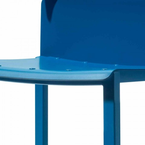 Barevná stohovatelná židle pro venkovní použití z hliníku Vyrobeno v Itálii - Dobla
