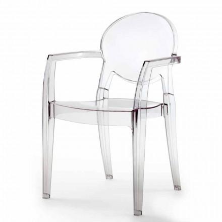 Židle s područkami zcela z polykarbonátu - Dalila
