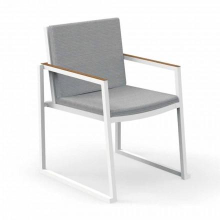 Zahradní židle s područkami z hliníku a tkaniny - Alabama Alu od Talenti