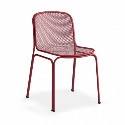 Venkovní stohovatelná kovová židle vyrobená v Itálii, 4 kusy - Prunella