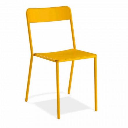 Venkovní stohovatelná kovová židle vyrobená v Itálii, 4 kusy - Xylia