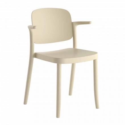 Stohovatelná venkovní židle z polypropylenu Vyrobeno v Itálii, 4 kusy - Bertina