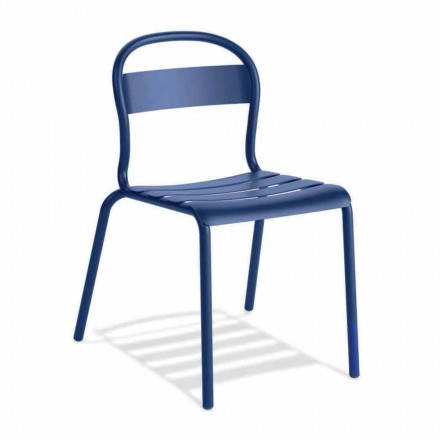 Venkovní stohovatelná hliníková židle vyrobená v Itálii, 4 kusy - Ulyssa