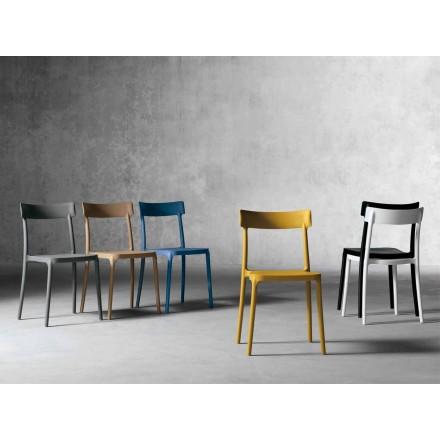Venkovní / vnitřní návrhová židle z polypropylenu vyrobená v Itálii Peia