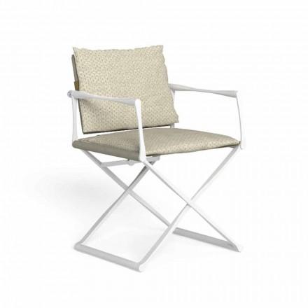 Venkovní skládací ředitelská židle s luxusními područkami - Riviera od Talenti