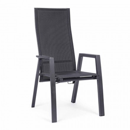 Sklopná venkovní židle z textilu a hliníku, 4 kusy - Lucia