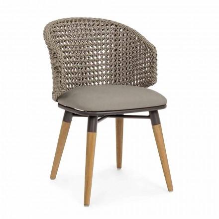 Tortora Venkovní židle ze dřeva, hliníku a Homemotion Fabric - Luana