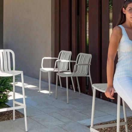 Zahradní židle Trocadero s područkami Talenti, vyrobená z hliníku