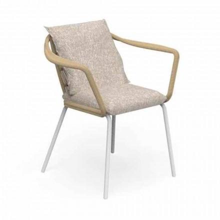 Moderní designová zahradní židle z hliníku a tkaniny - Cruise Alu Talenti