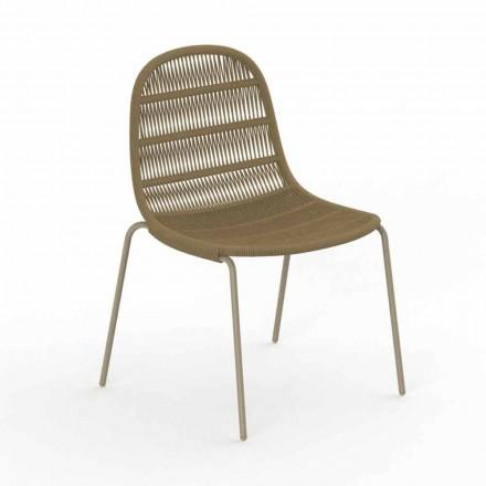 Moderní designová zahradní židle z hliníku a tkaniny - Panama od Talenti