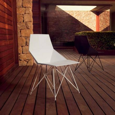 Moderní židle Faz kolekce Vondom, polypropylen a nerezová ocel, 4 kusy