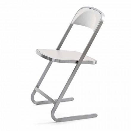 Stohovatelná zahradní židle z oceli s moderním designem vyrobená v Itálii - Boston