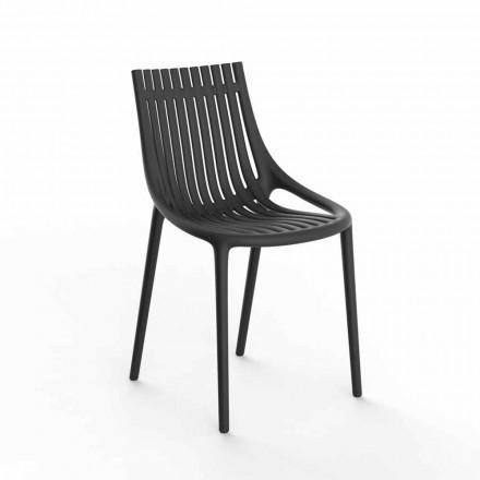 Stohovatelná barevná plastová zahradní židle 4 kusy - Ibiza od Vondom