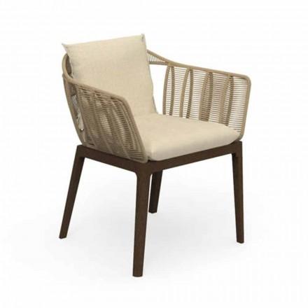 Moderní zahradní židle v Teak Wood a Fabric - Cruise Teak od Talenti
