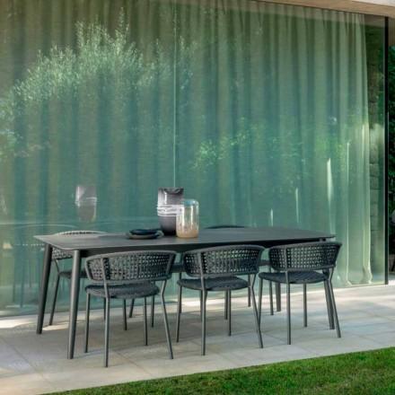 Zahradní židle Moon Alu od firmy Talenti, s hliníkovou a syntetickou šňůrou