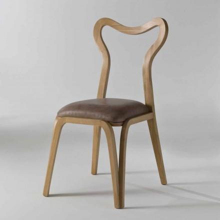 dřevěné a kožené židle moderní design, l.41xp.46 cm, Carol
