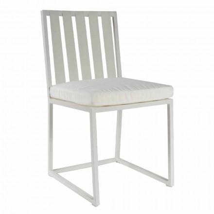 Venkovní jídelní židle v provedení z hliníku a luxusního designu 3 lana - Julie