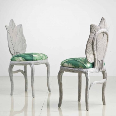 Židle moderního designu polstrovaná oběd, vyrobený v Itálii, Daniel