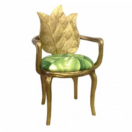 Židle polstrovaná oběd moderní design zlato, made in Italy, Daniel
