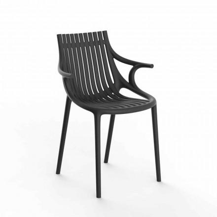 4dílná skládací venkovní jídelní židle z polypropylenu - Ibiza od společnosti Vondom