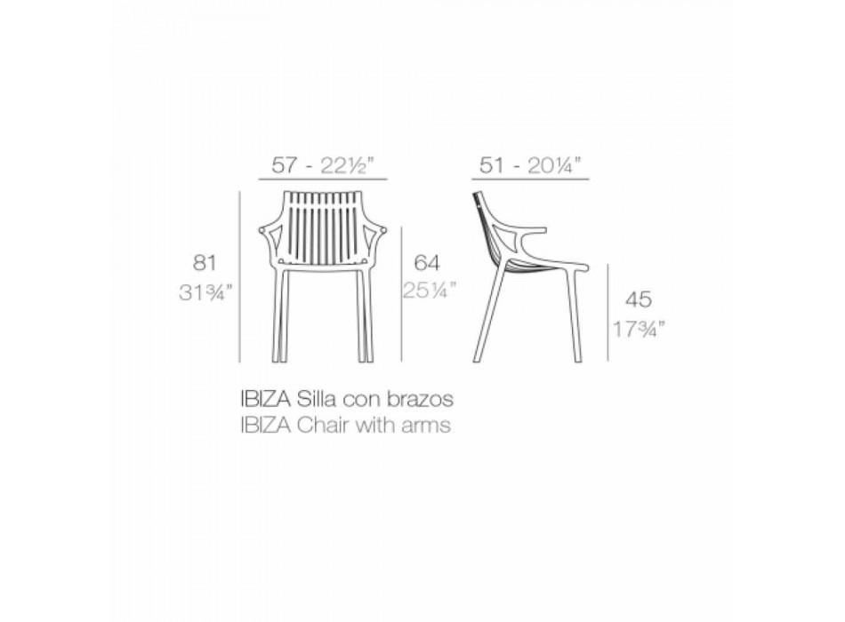 4dílná stohovatelná plastová venkovní jídelní židle - Ibiza od společnosti Vondom