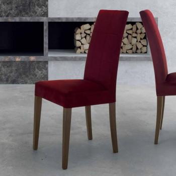 Čalouněný obývací pokoj židle s Made in Italy buková základna, 4 kusy - Fermali