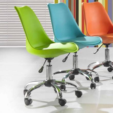 Kancelářská židle z barevného polypropylenu a kovu - Loredana