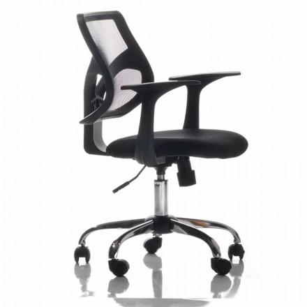 Kancelářská židle s otočnými koly, černá a tkáň - Giovanna