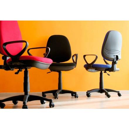 Ergonomická otočná kancelářská židle s područkami v tkáni - Concetta