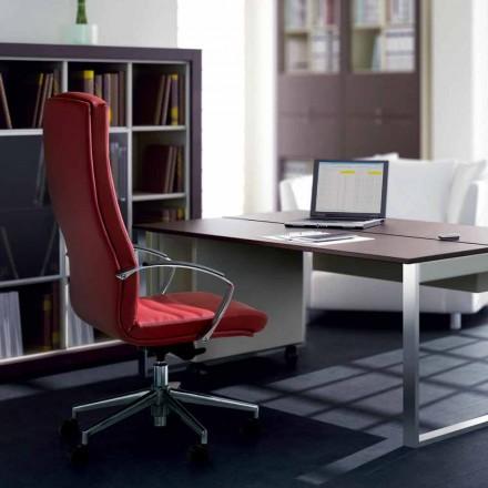 Kancelářská židle v buku čalouněné typu cowhide květina Debora