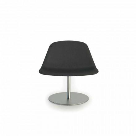 Moderní židle s kruhovým základním Llounge podle Luxy, vyrobený v Itálii