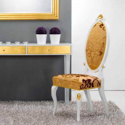 Židle klasický design ve dřevě zlatem dekorace Tristan
